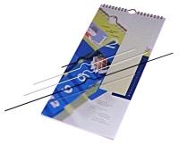 Kalenderhangers kort 10 cm, 50 st. wit  pak